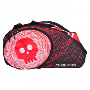 Borsone Beach Tennis Turquoise SUPER PRO BAG BLACK DEATH RED 2020